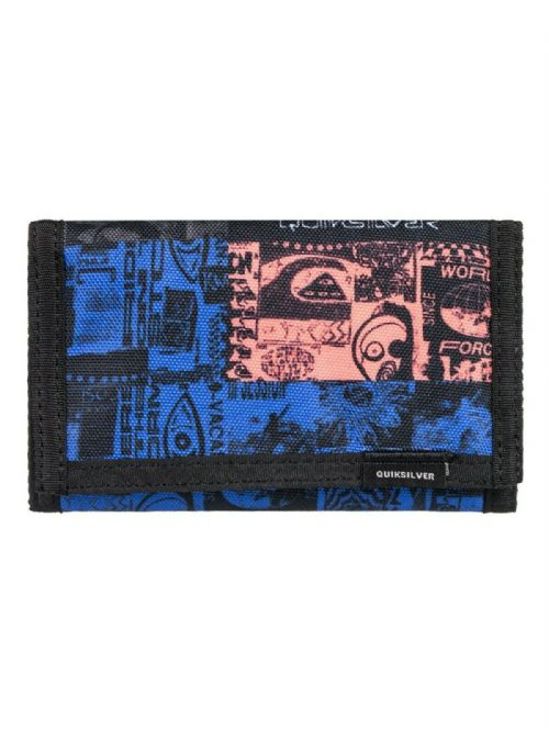 QUIKSILVER MENS WALLET.EVERYDAILY BLACK TRIFOLD MONEY NOTE COIN CARD PURSE S20 8
